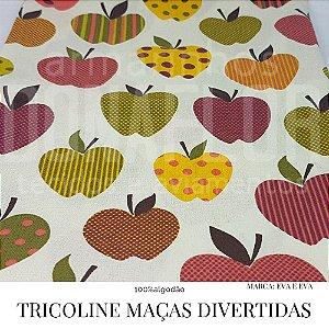 Tricoline Maças Divertidas 50X1,40largura