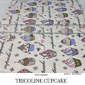 Tricoline Cupcake  50cm X 1,40m largura