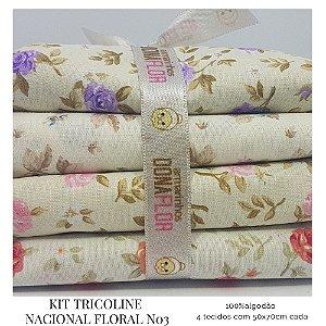 Kit Tricoline Floral N3 | 4 Tecidos 50x70cm