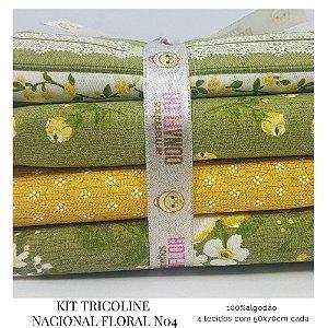 Kit Tricoline Floral N4 | 4 Tecidos 50x70cm