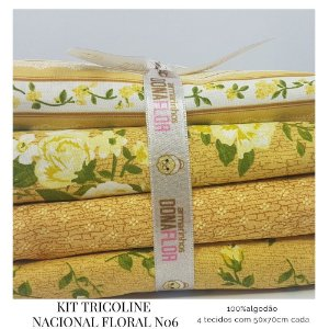 Kit Tricoline Floral N6 | 4 Tecidos 50x70cm