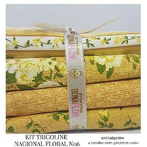 Kit Tricoline Floral N7 | 4 Tecidos 50x70cm