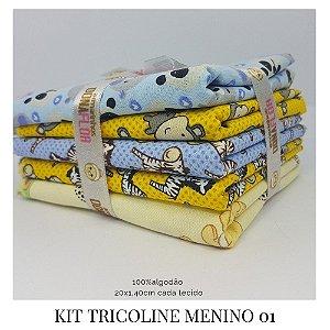 Kit Tricoline Menino  N1 | 5 Tecidos 20x140cm
