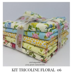 Kit Tricoline Floral  N6 | 5 Tecidos 20x140cm