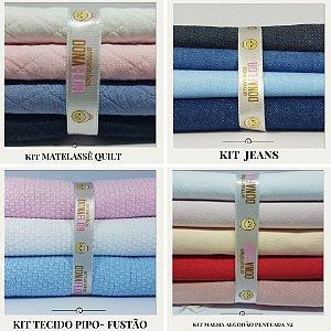 Combo Quilt - Pipo - Jeans e Malha Algodão