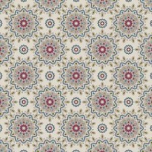 Tricoline White Mandala por Carol Viana 50X1,40largura
