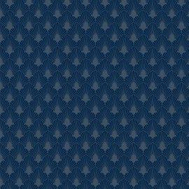 Tricoline Leque azul noturno 50cmX1,40largura