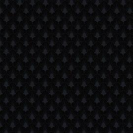 Tricoline Leque preto 50cmX1,40largura