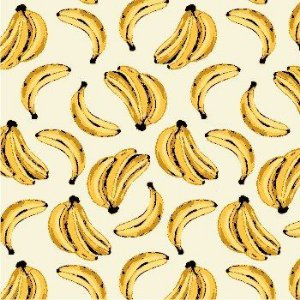 Tricoline banana tropical 50cmX1,40largura