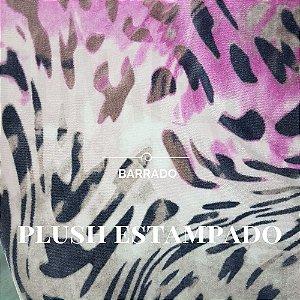 Plush Barrado 50x1,70m de largura - pequenos defeitos