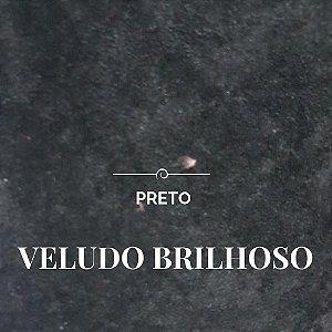 Veludo Cotelê Brilhoso Preto 50x1,60m de largura - pequenos defeitos