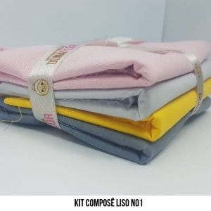 Kit Tricoline Composê liso N1 | 4 Tecidos 50x70cm