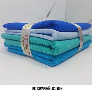 Kit Tricoline Composê liso N2| 4 Tecidos 50x70cm
