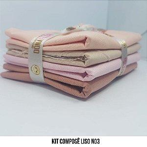 Kit Tricoline Composê liso N3| 4 Tecidos 50x70cm