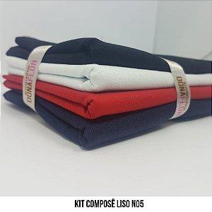 Kit Tricoline Composê liso N5| 4 Tecidos 50x70cm