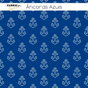 Tricoline Âncoras Azuis  50cmX1,40m largura