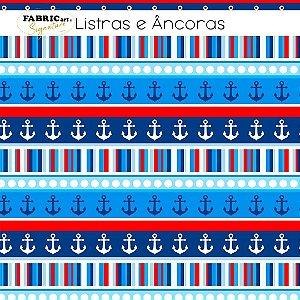 Tricoline Listras e Âncoras 50cmX1,40m largura