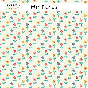 Tricoline Mini flores 50cmX1,40m largura