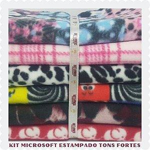 Kit Microsoft Estampado Fortes 6tecidos 30x80cm