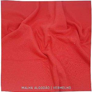 Malha Algodão vermelha 50x1,80m (tubular)