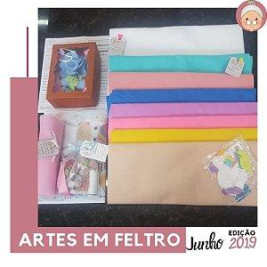 FABRICBOXdonaFlor Artes em Feltro - Junho 2019 -