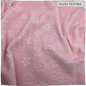 Plush Textura Flores e Margaridas Rosa 50x1,70M
