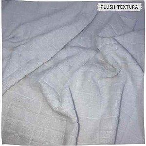 Plush Textura Quadrados Branco 50x1,70M