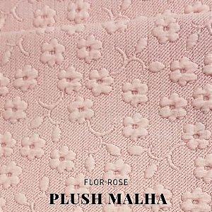 Plush Malha Flor rosê 50 x1,50m