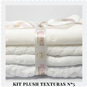 Kit Plush  textura Nº5 4tecidos 30x80cm