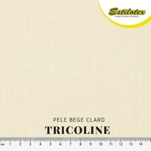 Tricoline 100%Algodão Bege Claro 50cm x 1,50m Estilotex