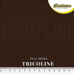 Tricoline 100%Algodão Bege Negra 50cmx 1,50m Estilotex