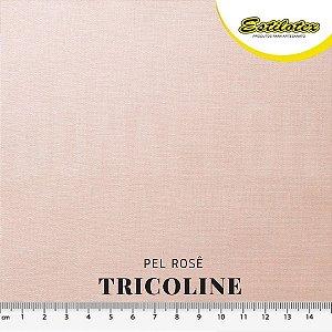Tricoline 100%Algodão Pele Rosê 50x 1,50m Estilotex