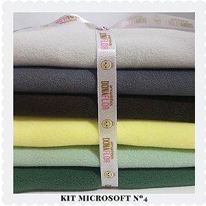 Kit Microsoft N4 tons variados 6 tecidos 30 x 75cm