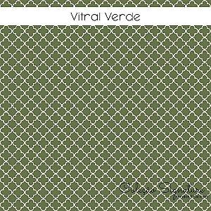 Tricoline Vitral Verde 50cmX1,40m largura