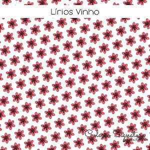 Tricoline Lírios Vinho 50cmX1,40m largura
