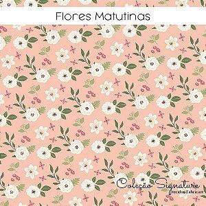 Tricoline Flores Matutinas 50cmX1,40m largura