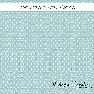Tricoline Poá Médio Azul Claro 50cmX1,40m largura