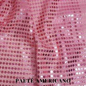 Paetê Americano Rosa  Fundo Rosa 50x1,10cm