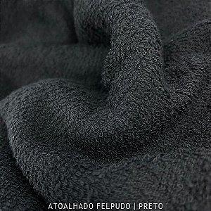 Atoalhado Felpudo Preto  50cmx1,40m