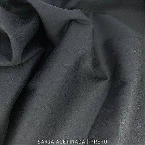 Sarja Lisa Acetinado Preto 50cmx1.40m