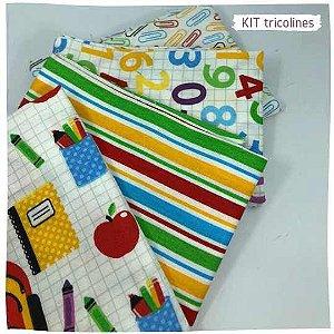 Kit Tricoline Escolar 4tecidos 50cmx70cm