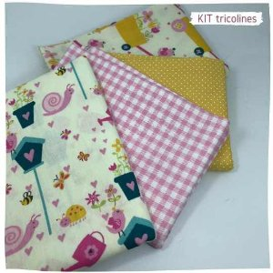 Kit Tricoline Jardins 4tecidos 50x70cm