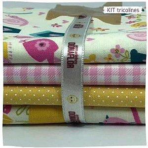 Kit Tricoline Jardins   N2 | 4 Tecidos 20x140cm