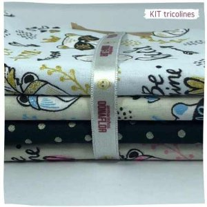 Kit Tricoline fofura  N2 | 4 Tecidos 20x140cm