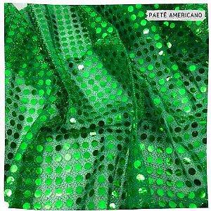 Paetê Americano Verde  50cm x 1,10m