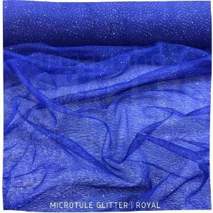 Microtule Com Gliter  Azul Royal  50cm x 1,60m