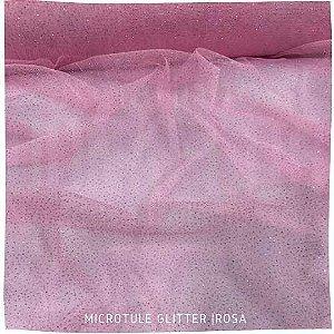 Microtule Com Gliter  Rosa   50x1,60m