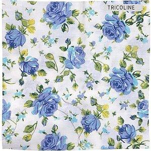 Tricoline Rosa Azul 50cmX1,40m