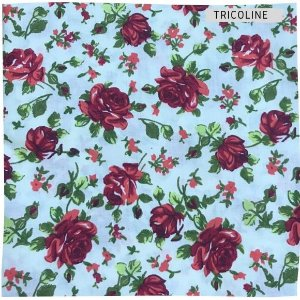 Tricoline Rosa Vermelho 50cmX1,40m