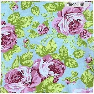 Tricoline Jardins Rosas 50cmX1,40m
